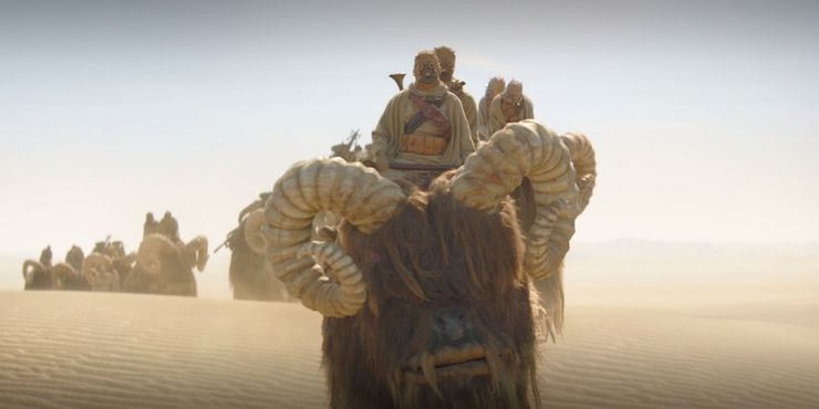 Sand People In Single File