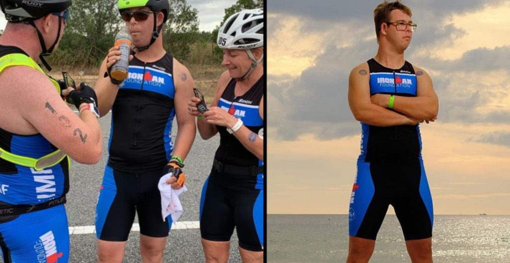 First person with down syndrome to complete ironman triathlon