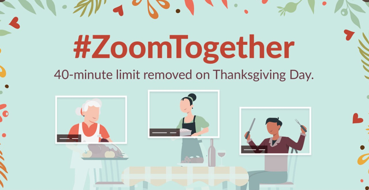 Zoom lifts 40 minute limit for Thanksgiving