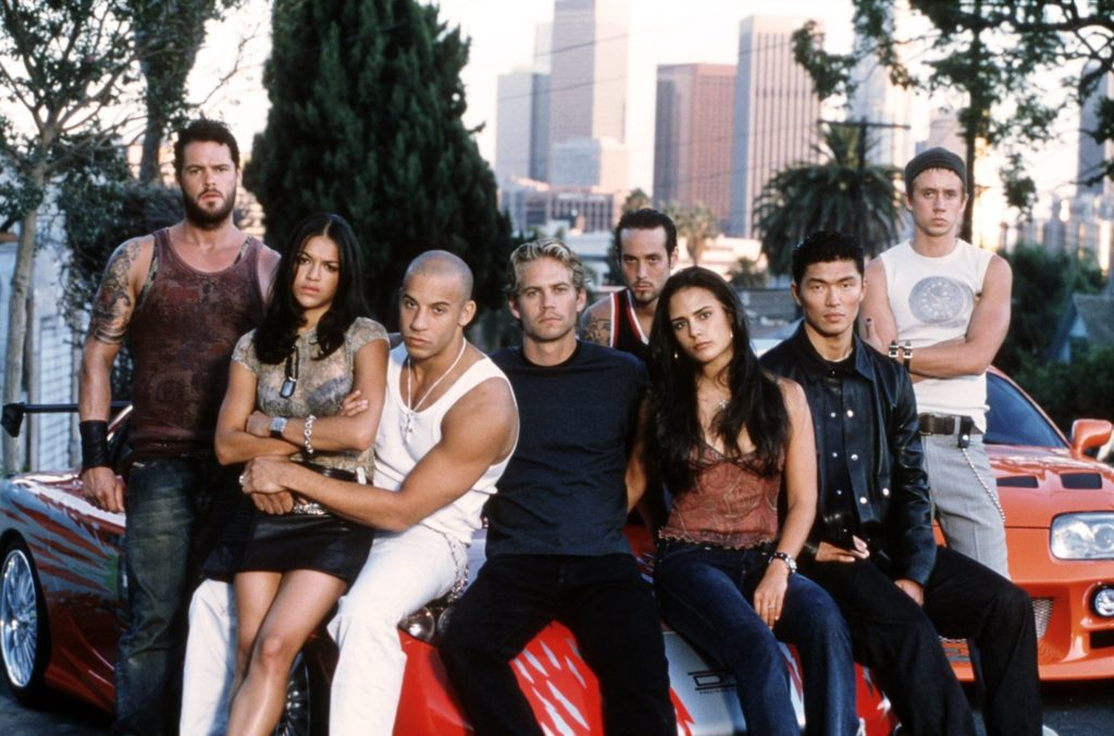 The cast of The Fast & The Furious.
