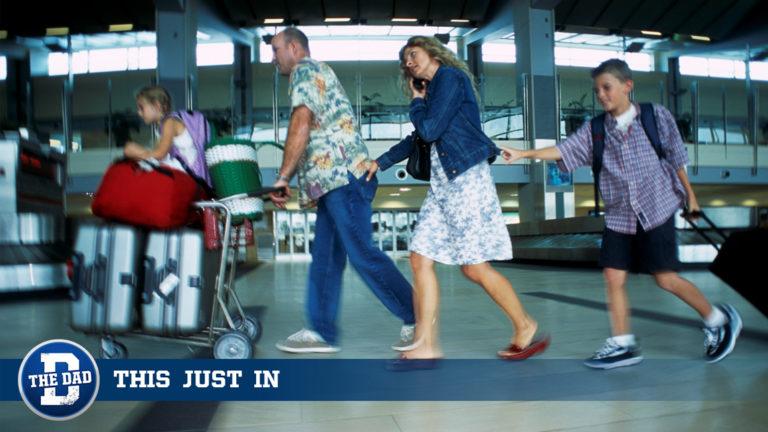 Dad Rushing to Airport