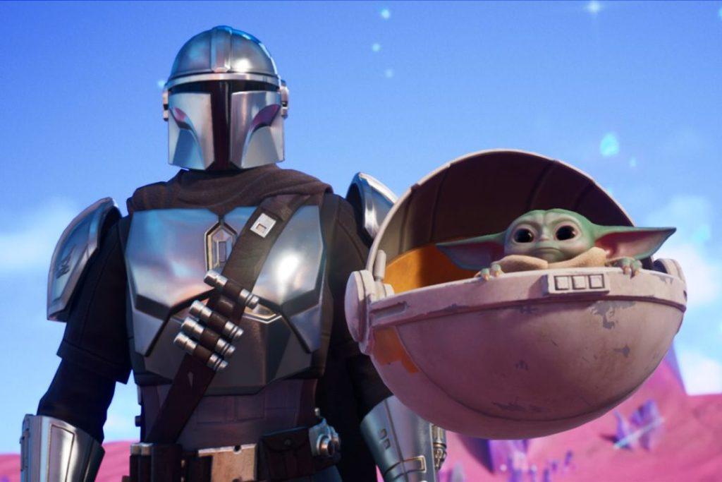 Mandalorian and Baby Yoda Fortnite