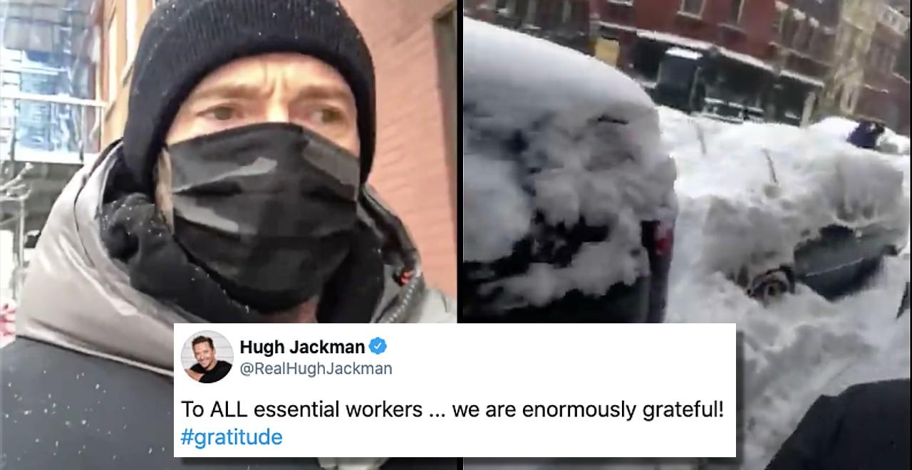 Hugh Jackman expresses gratitude to essential workers