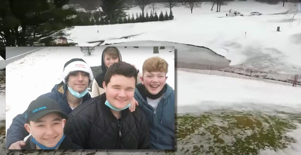 Teens save kids from icy pond