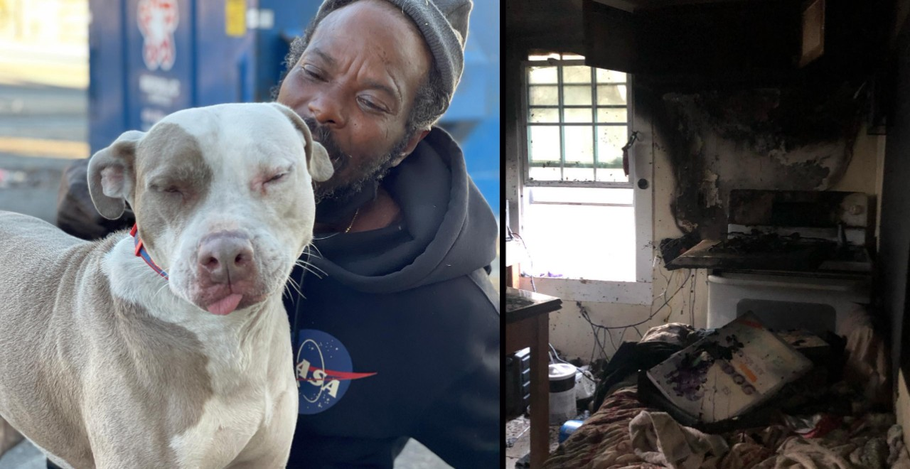 Homeless man saves animals from burning animal shelter