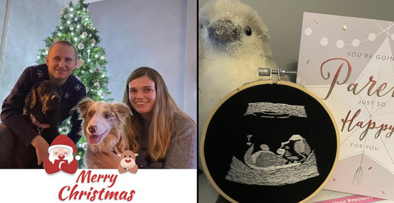 Woman gives blind partner embroidered ultrasound