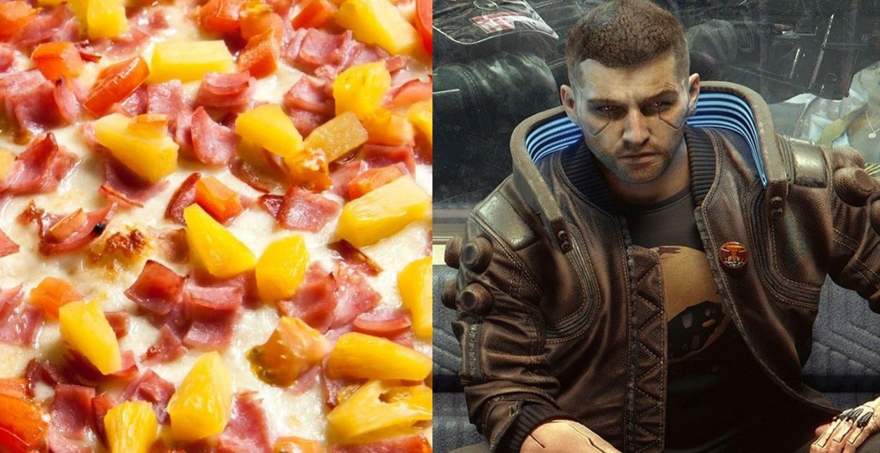 Cyberpunk Pineapple Pizza