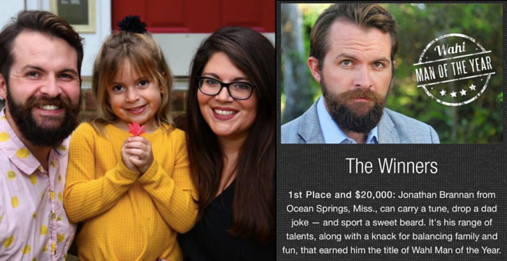 Dad wins Most Talented Beard Contest, Uses Money to Adopt