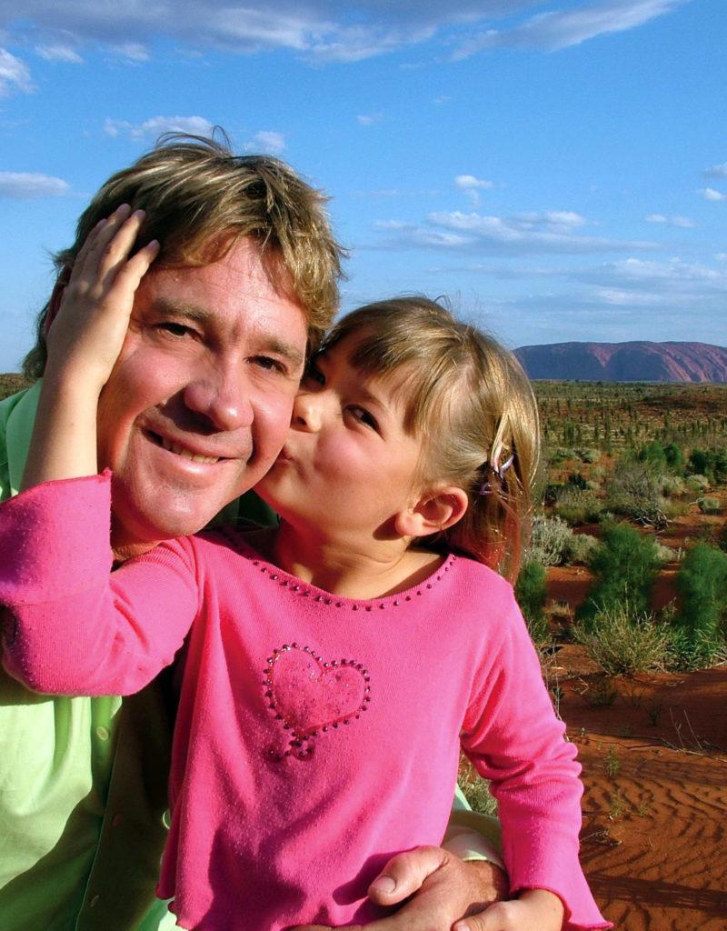 Steve Irwin with his daughter, Bindi