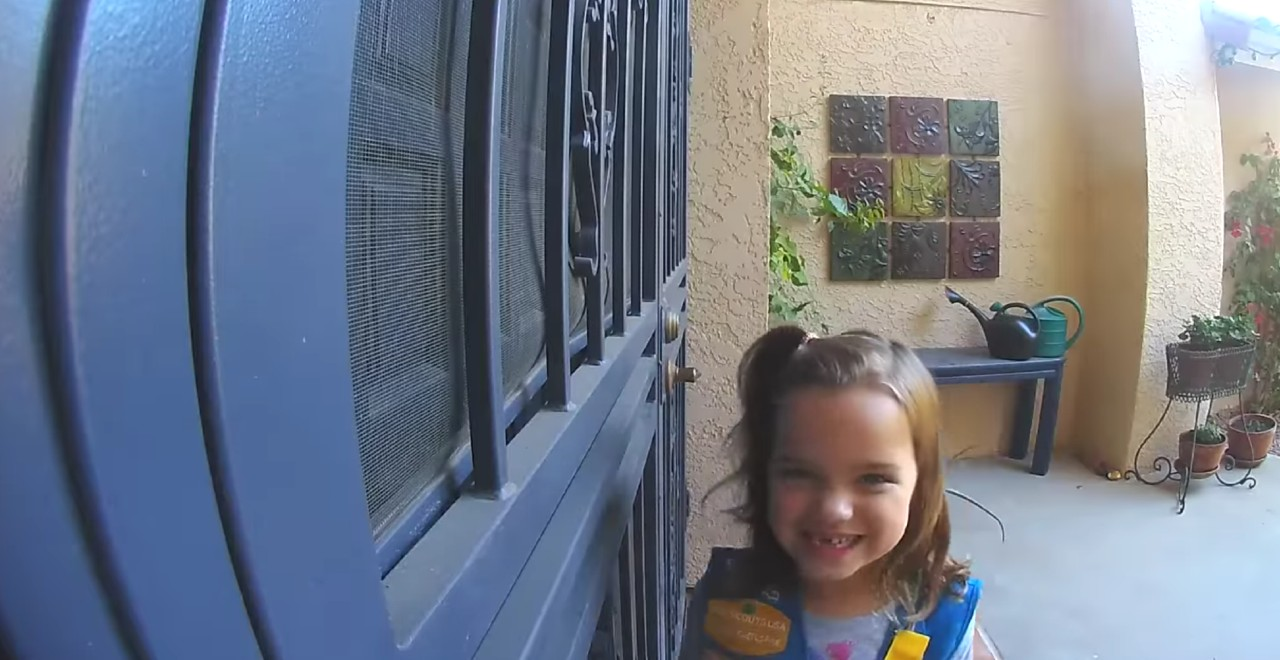 Girl Scout Door Bell Cam Pitch