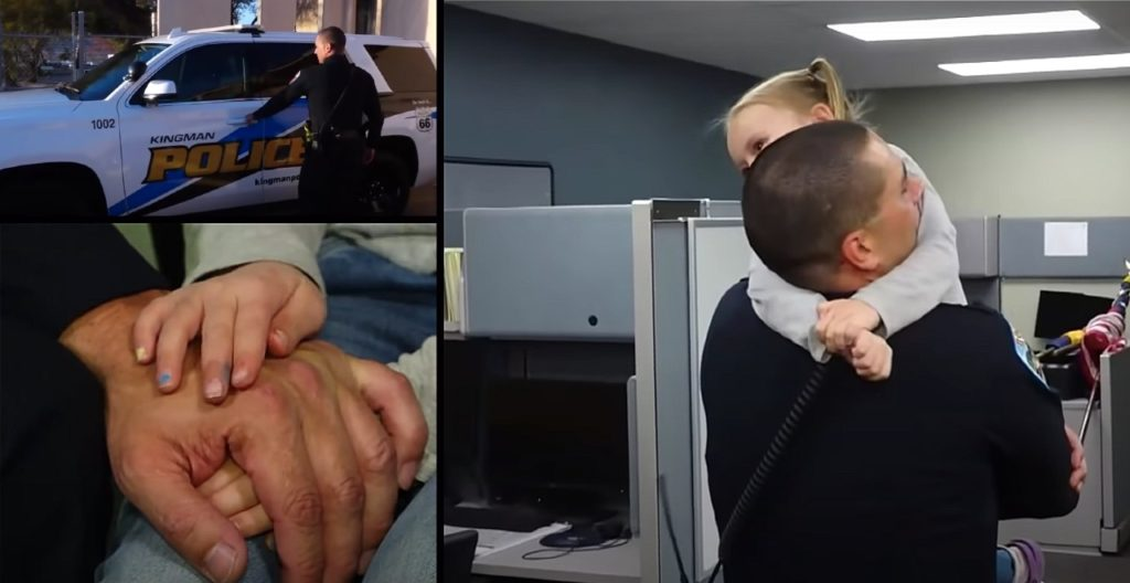 Police officer adopts little girl he helped on duty