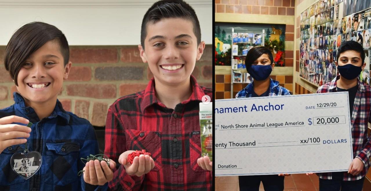 Boys Invent Ornament Anchors