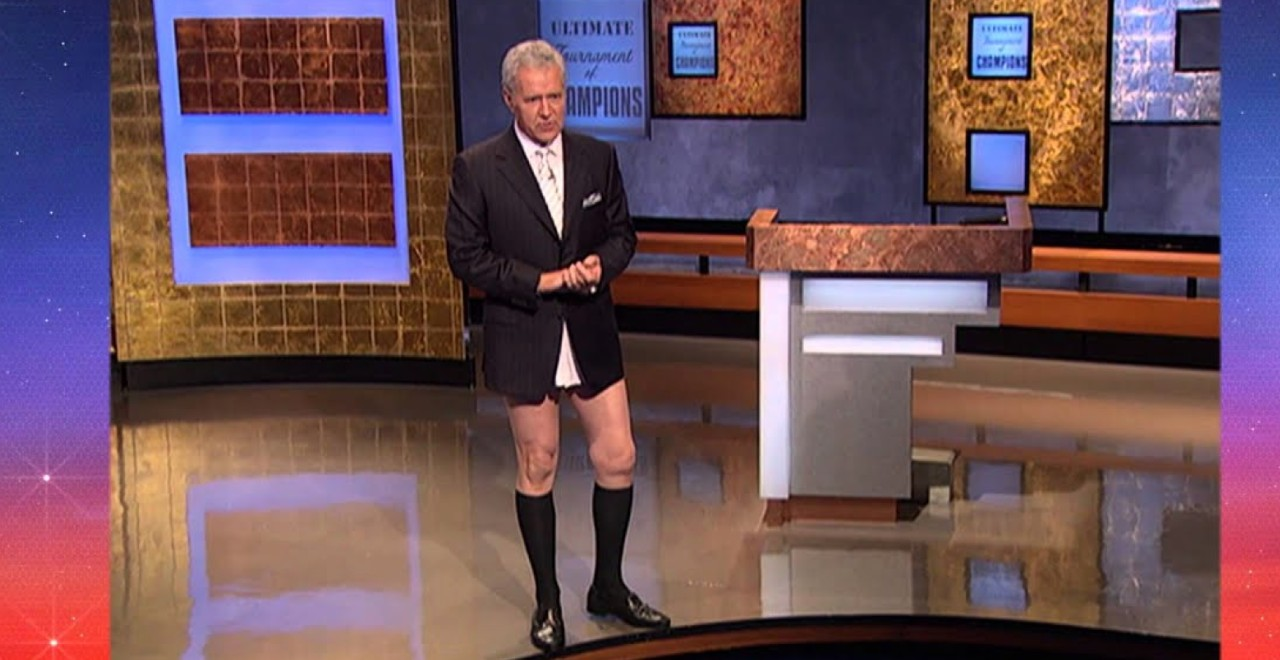 Trebek No Pants Prank