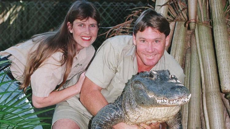 Terri, Steve, and Crocodile Irwin.