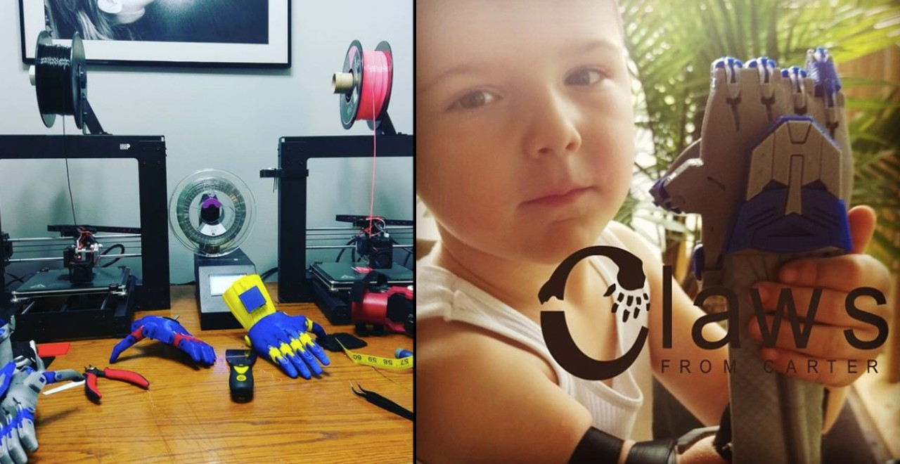 Dad 3D Prints prosthetics for free