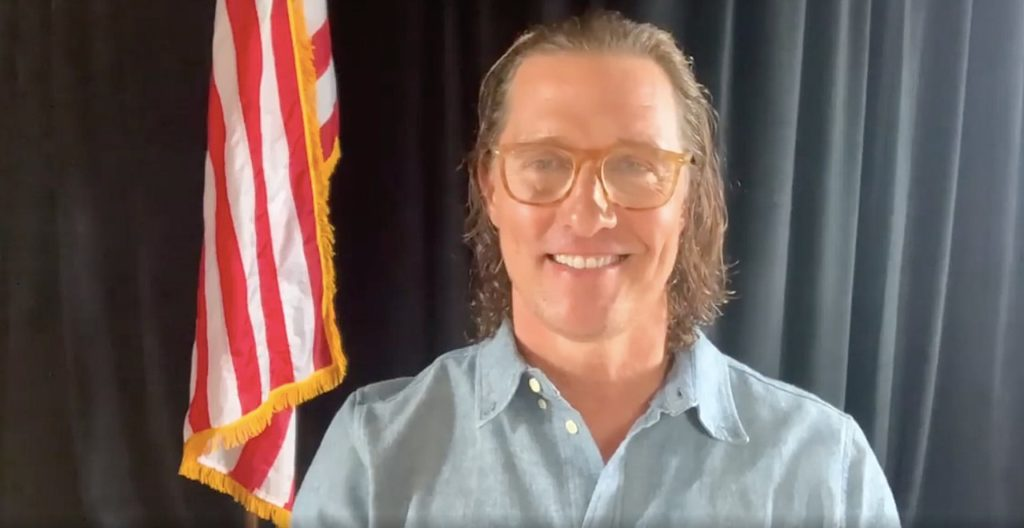 Matthew McConaughey helps Texas after storm