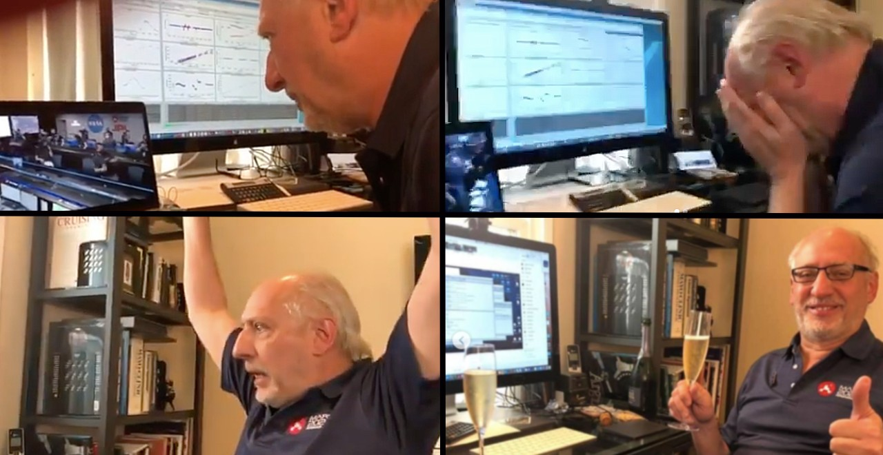 NASA dad watches Mars rover land