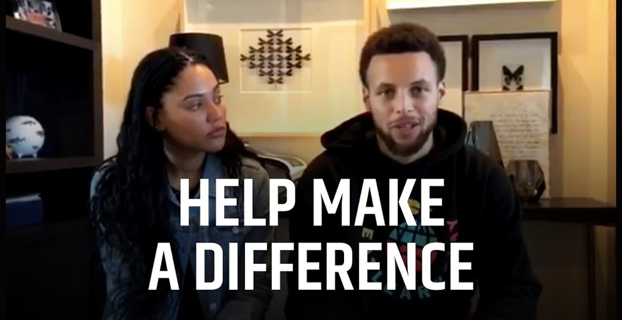 Steph and Ayesha Curry Donate Meals