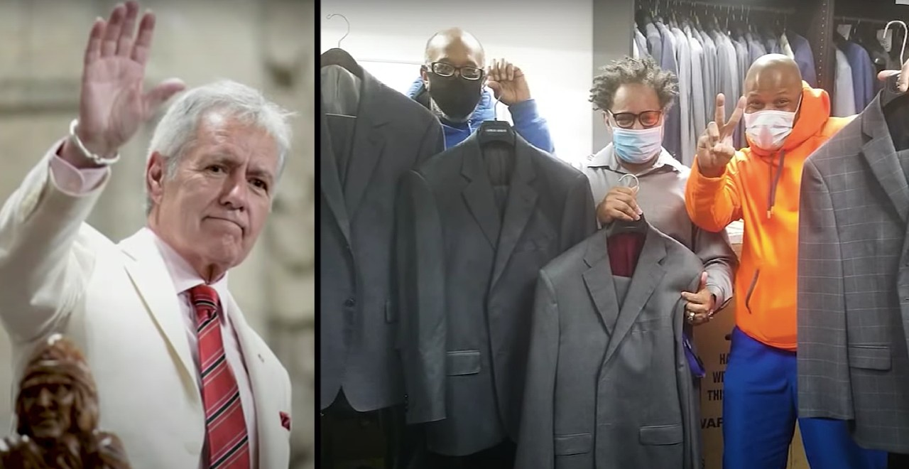 Alex Trebek's Wardrobe was Donated to Organization Helping Homeless Find Jobs