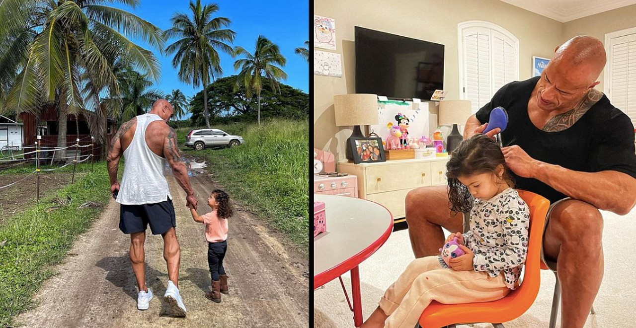 The Rock says that every man needs a daughter