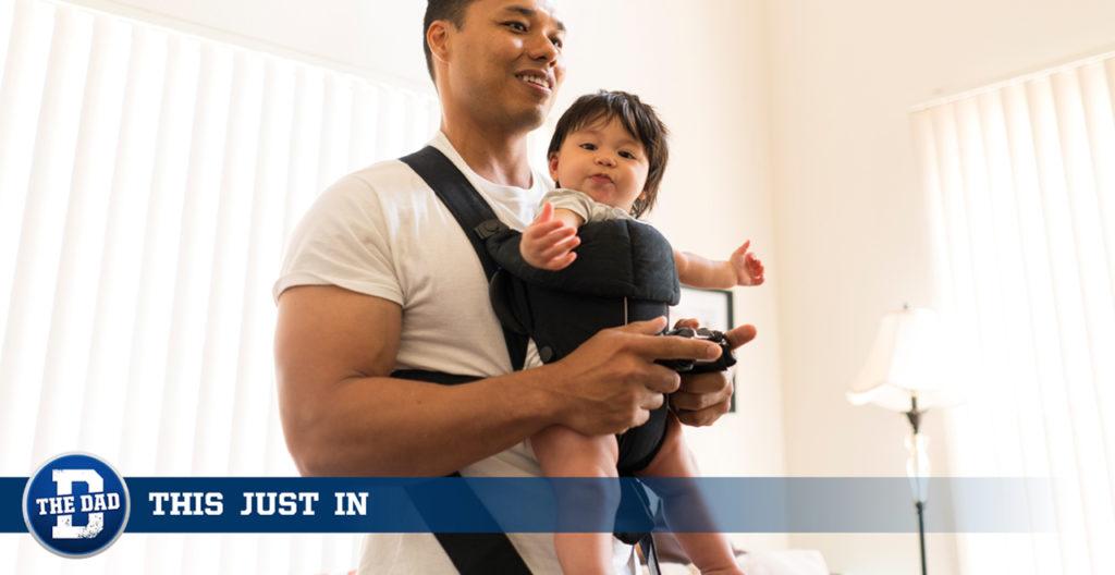 Dad Caring for Newborn/Animal Crossing