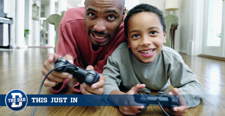 Son Gives Dad Unplugged Controller