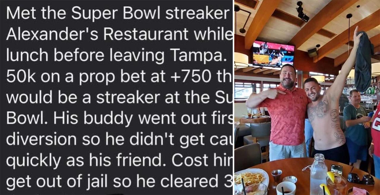 Streaker Bets on Himself