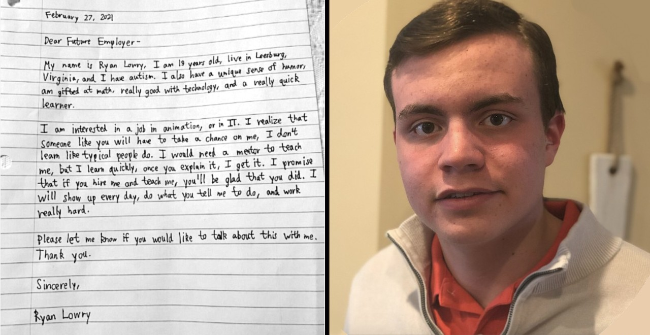 Young man's letter to future employers quickly goes viral