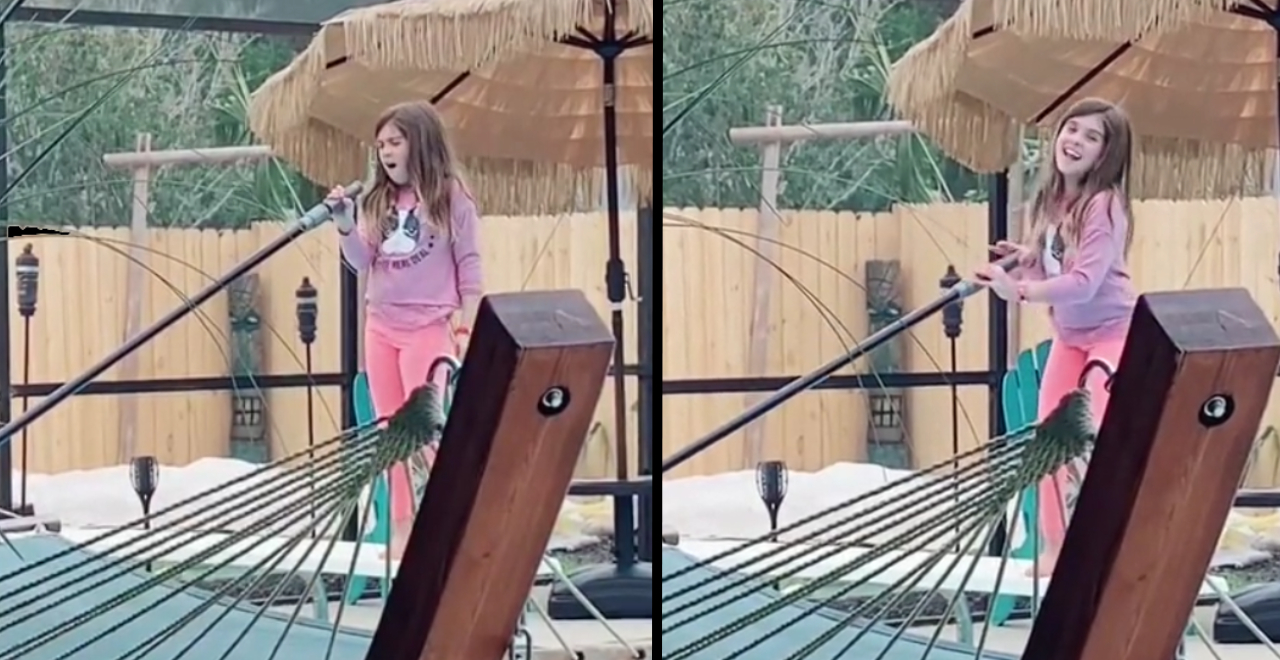 Girl on Fire by Girl Cleaning Pool