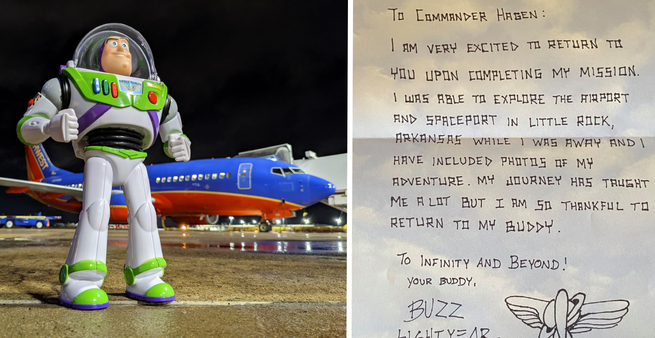 Lost Buzz Lightyear is Returned by Airline