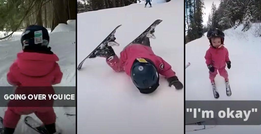 Dad mics skiing 2-year-old