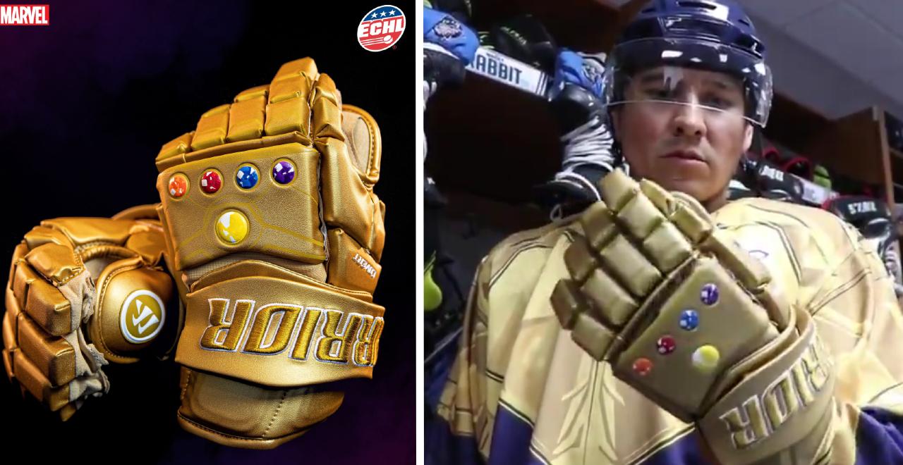 Thanos' Infinity Gauntlet Hockey Gloves