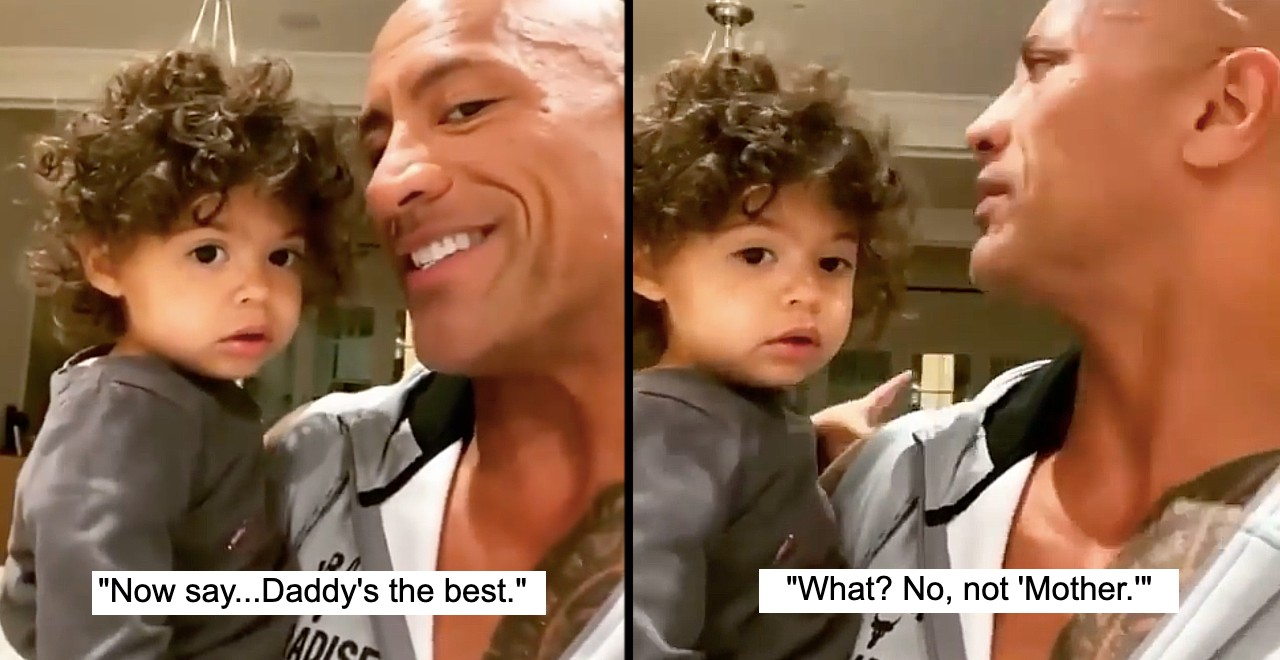 The Rock gives daughter Tiana a pep talk