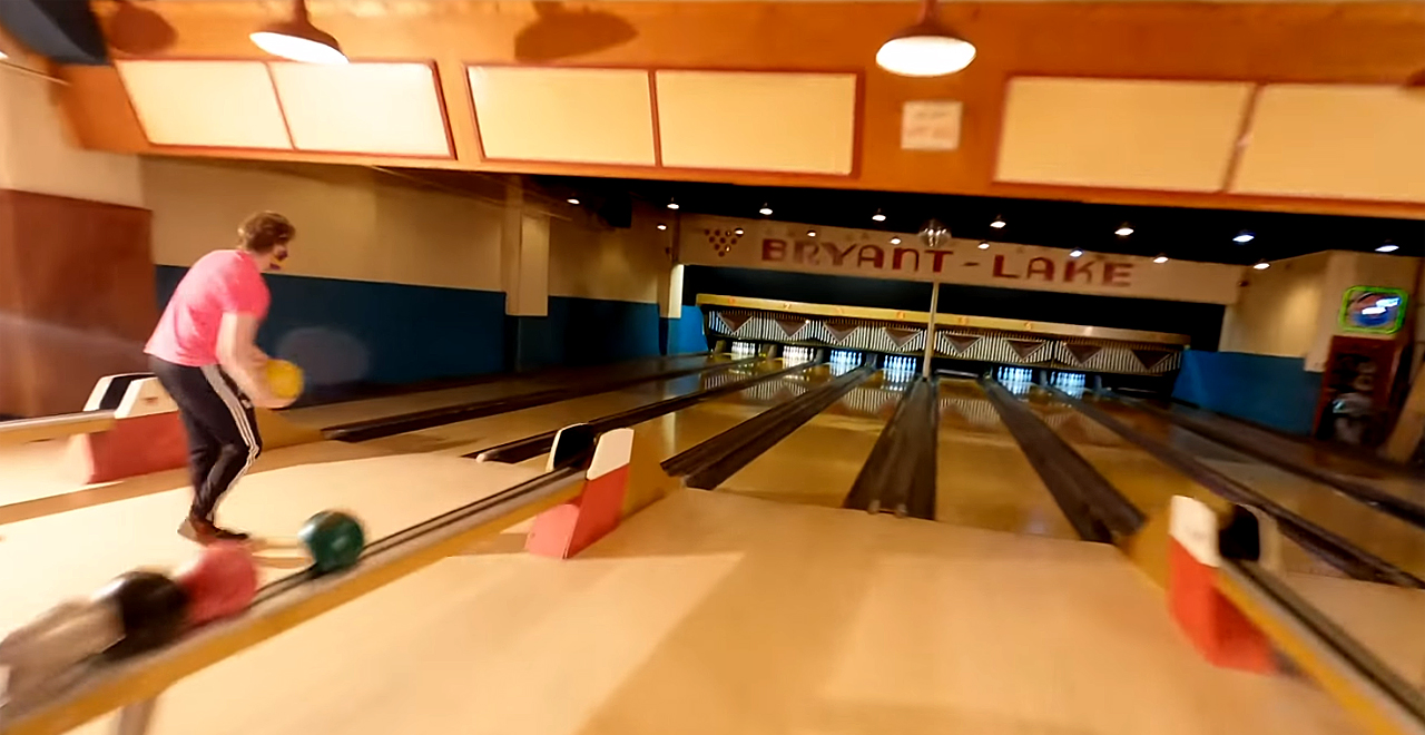Bowling Alley Drone One Shot