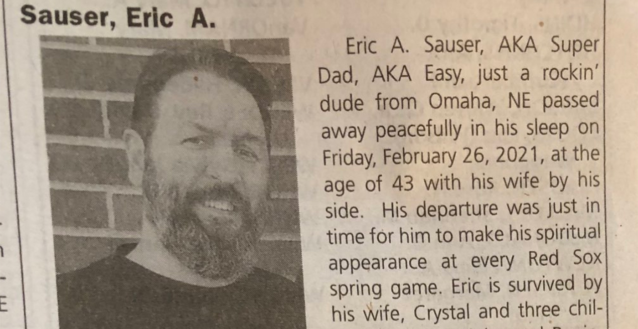 Obit for Dead Sexy Dad