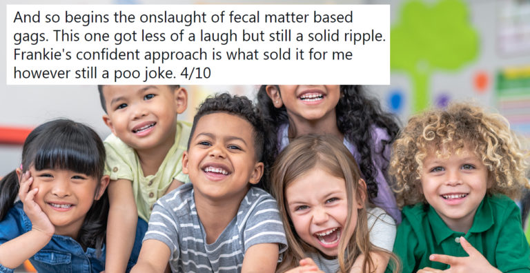 Teacher shares and rates students' jokes