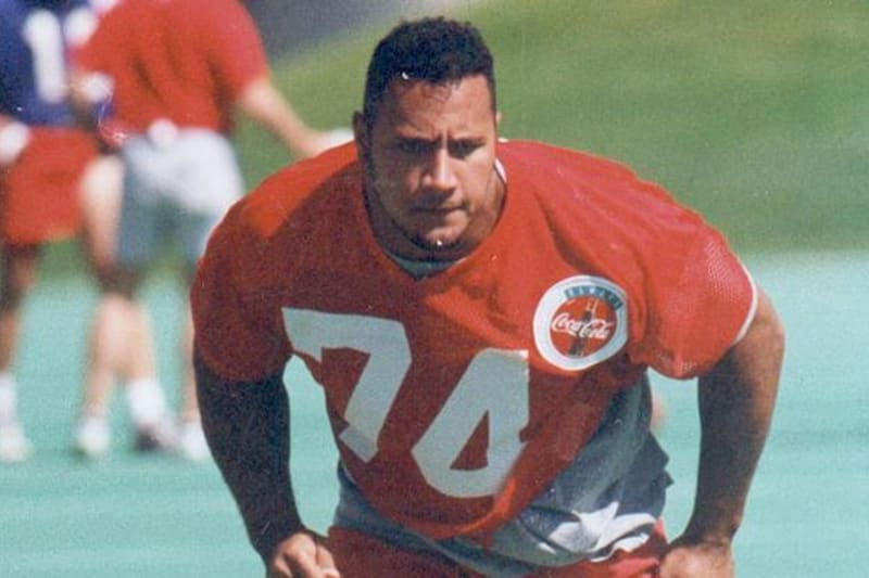 The Rock in his Canadian Football League days
