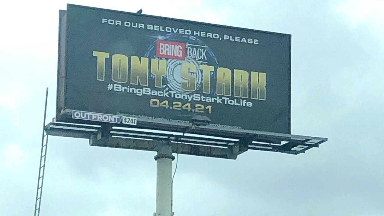 Bring Back Tony Stark Billboard