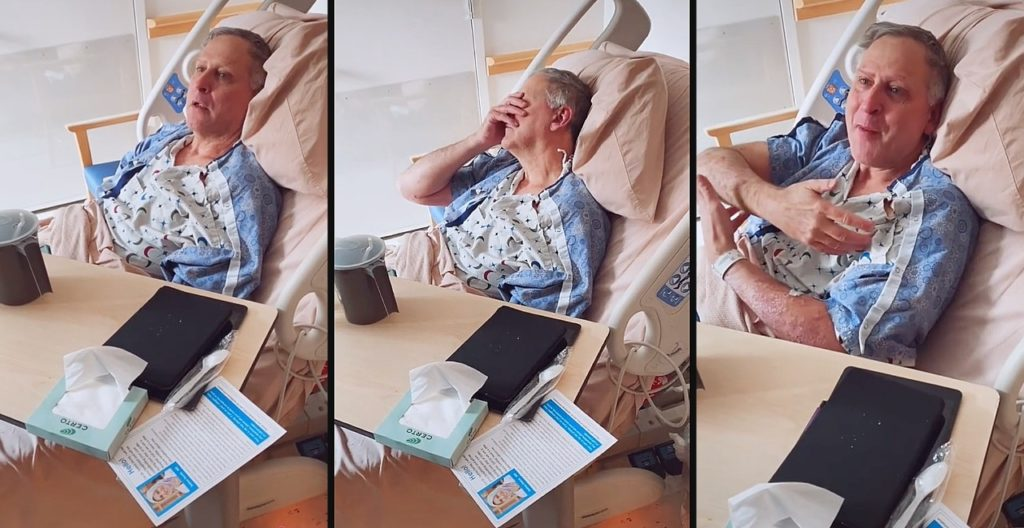 Dad with Alzheimer's reacts to daughter's pregnancy