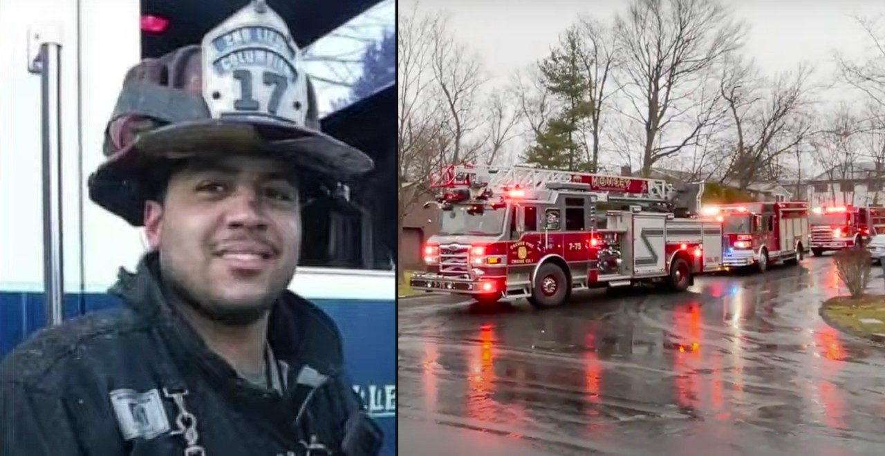Firefighters hold birthday parade for fallen colleague's son