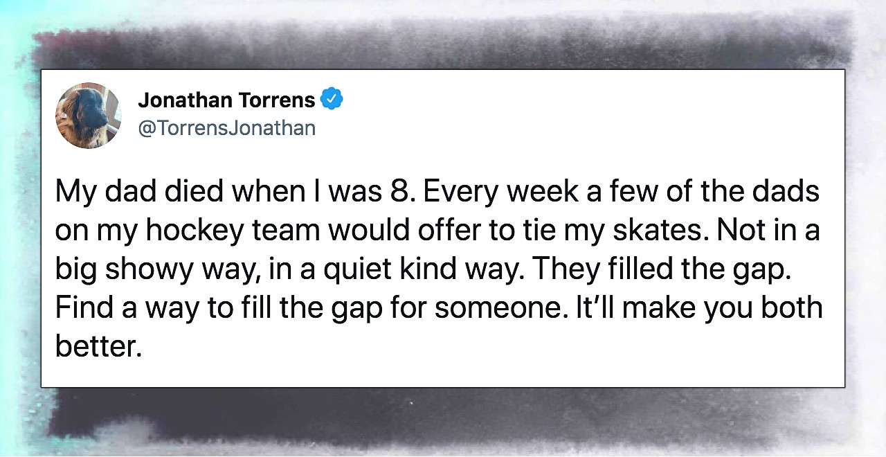 Touching twitter thread after story of dads helping 8-year-old