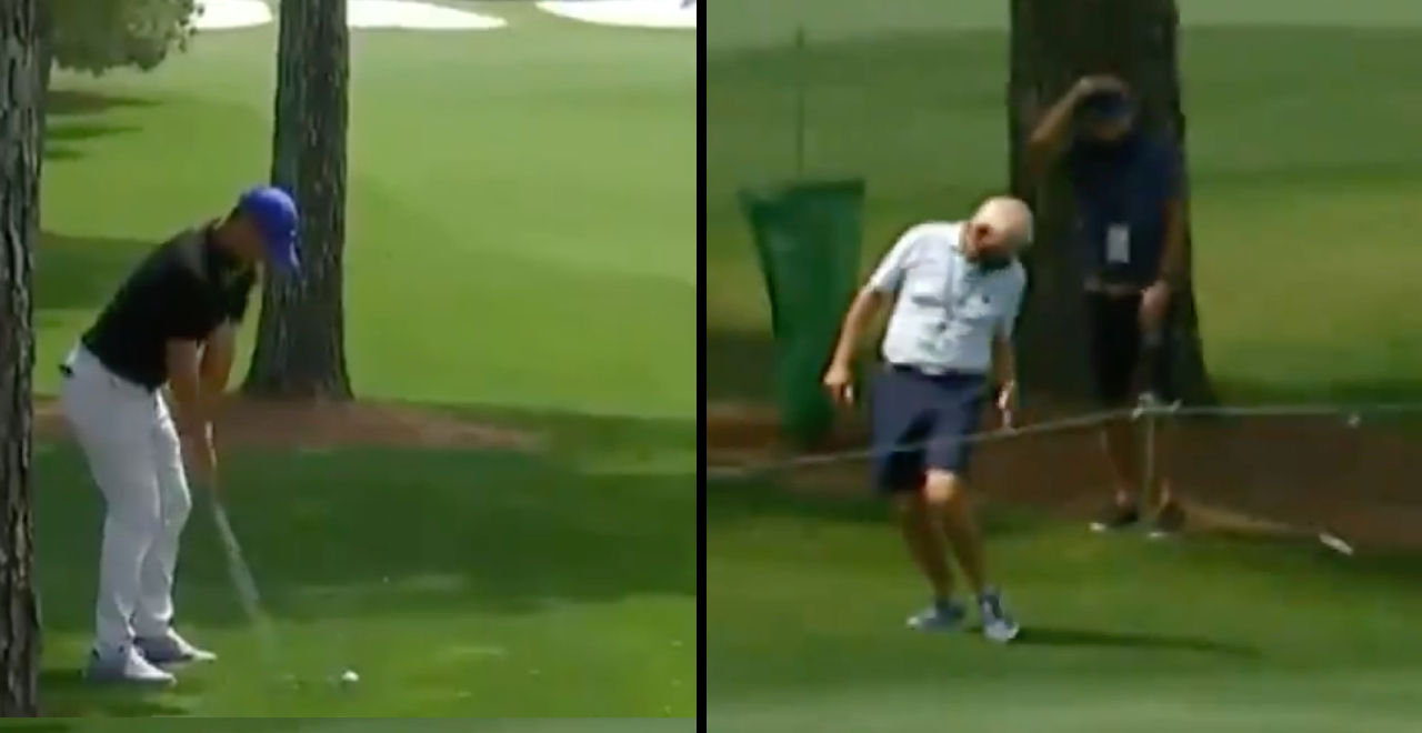 Golfer hits Dad at Masters