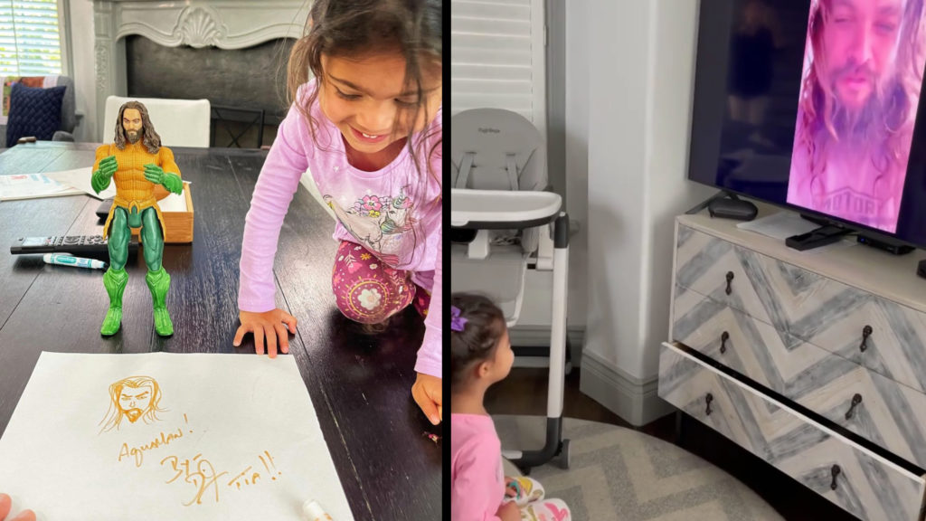 Momoa Surprises Rock's Daughter