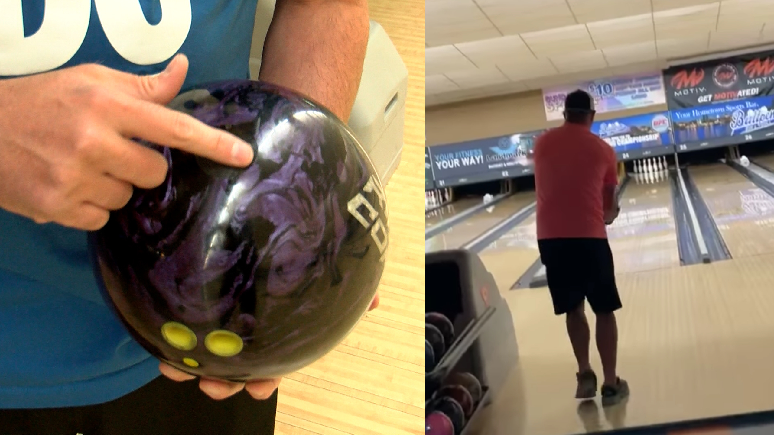 Son bowls 300 with dad's ashes