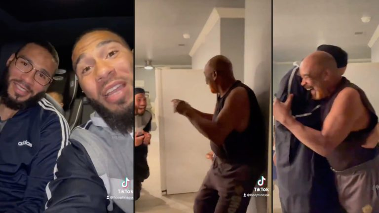 Twins prank their dad after two years apart switch clothes