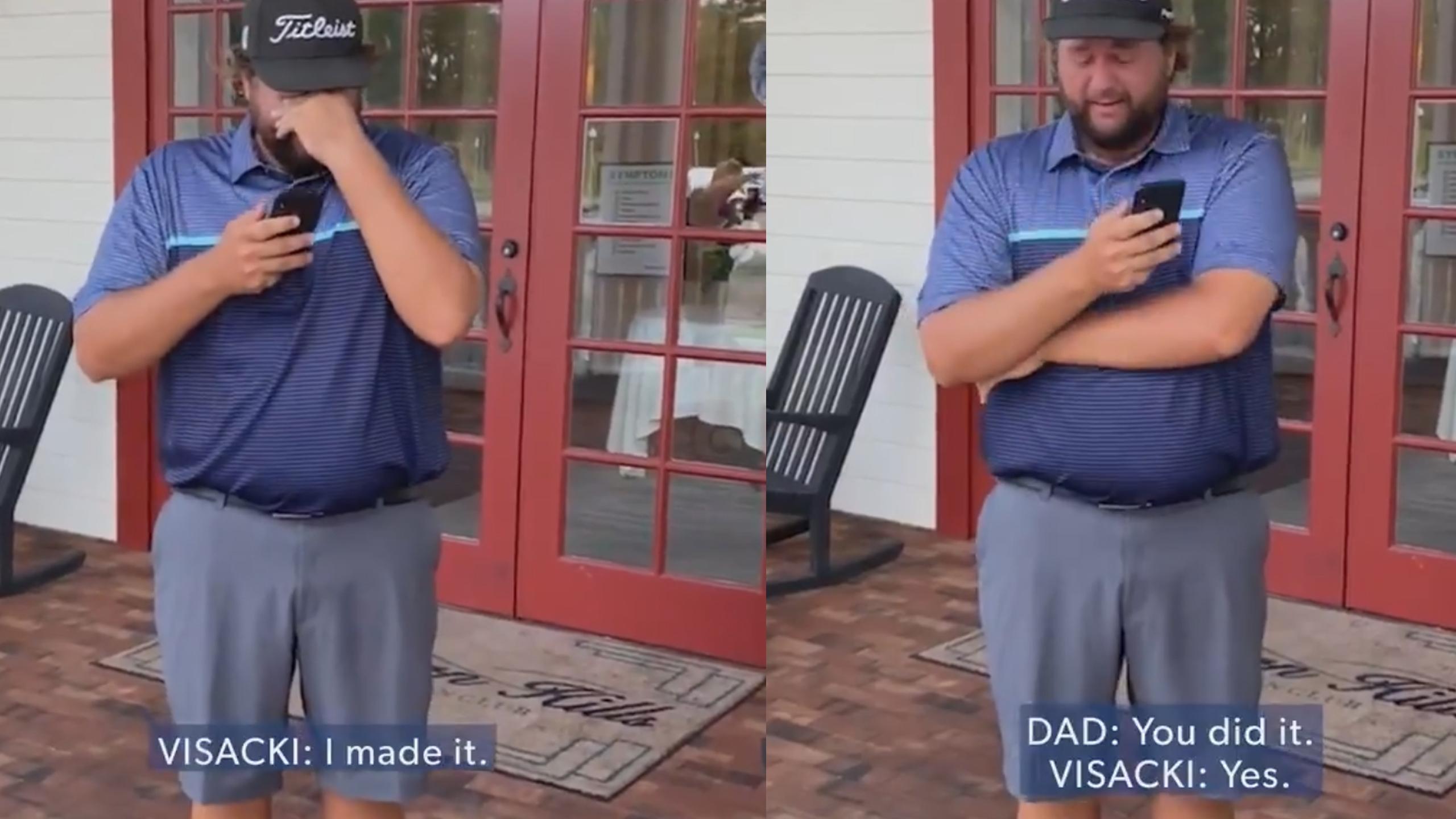 Pro Golfer Calls Dad