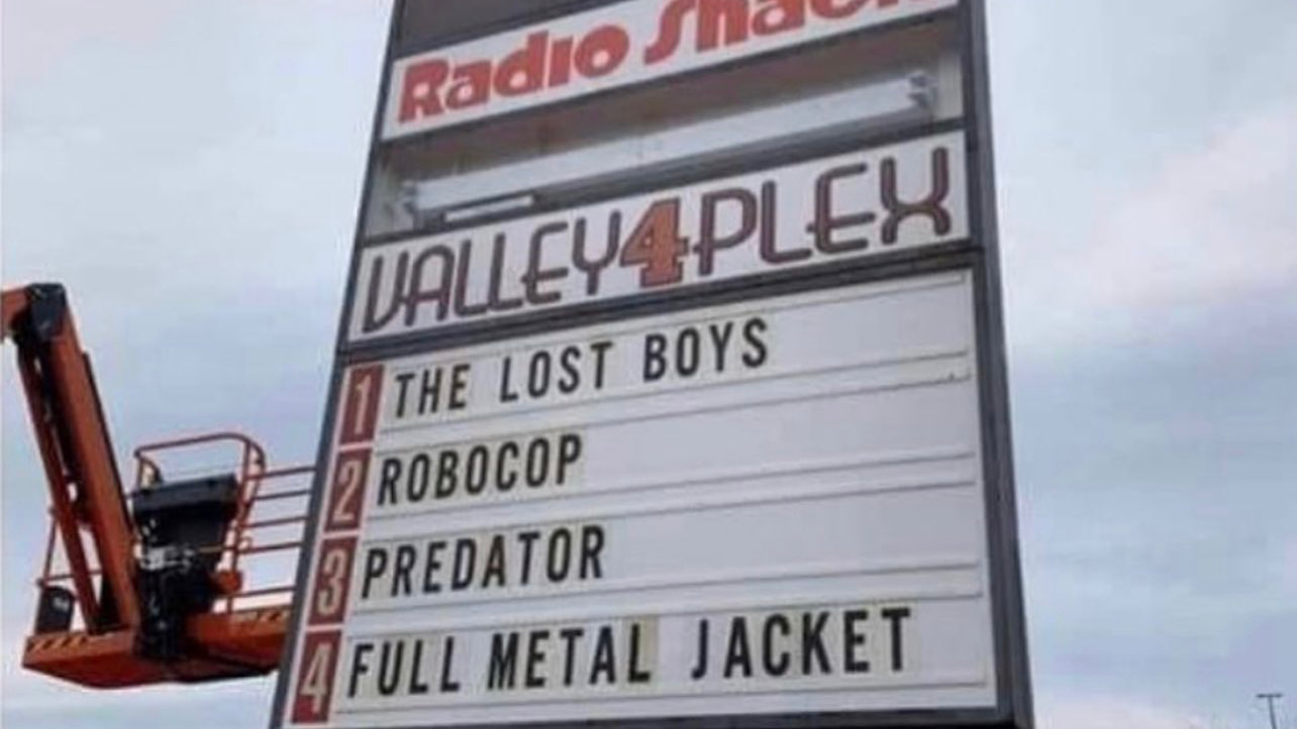 1987 Movie Marquee