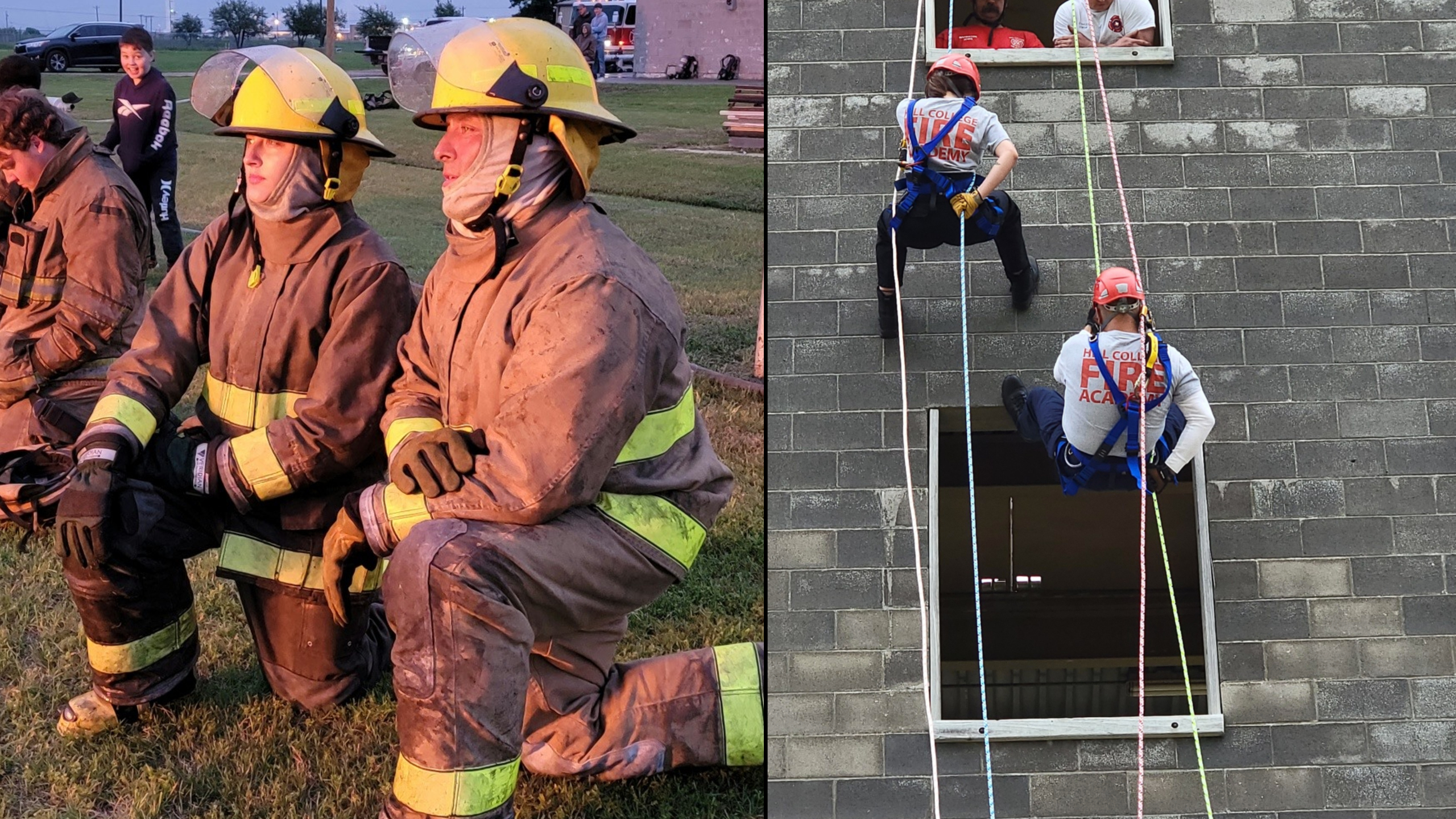 Dad Daughter Firefighter Duo