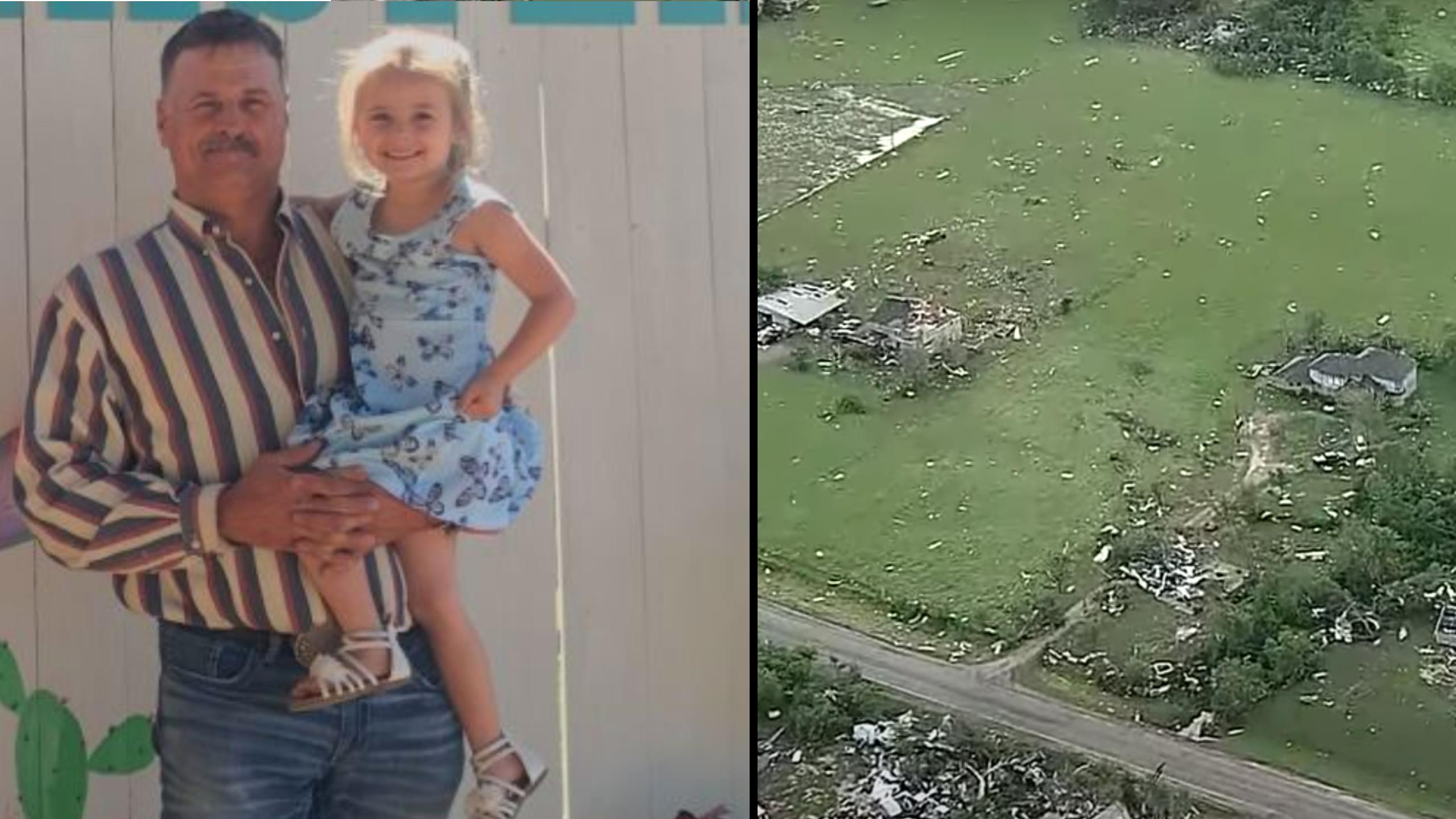 Dad Saves Daughter Tornado