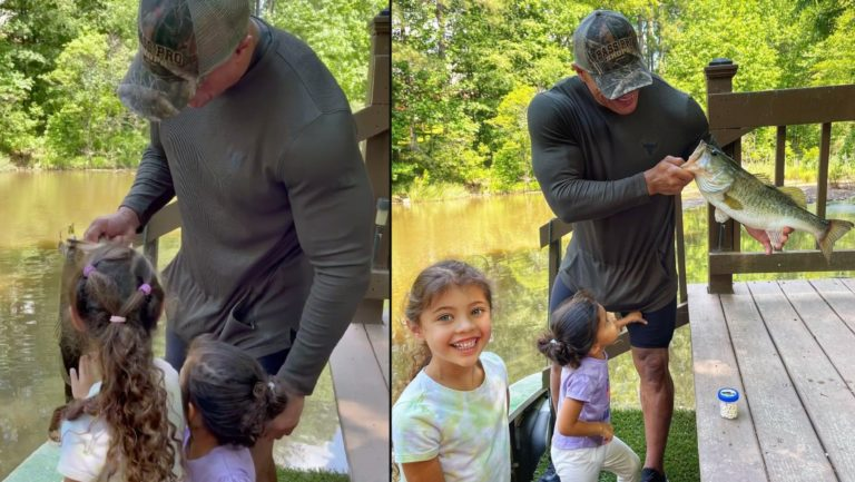 The Rock takes daughters on first fishing trip